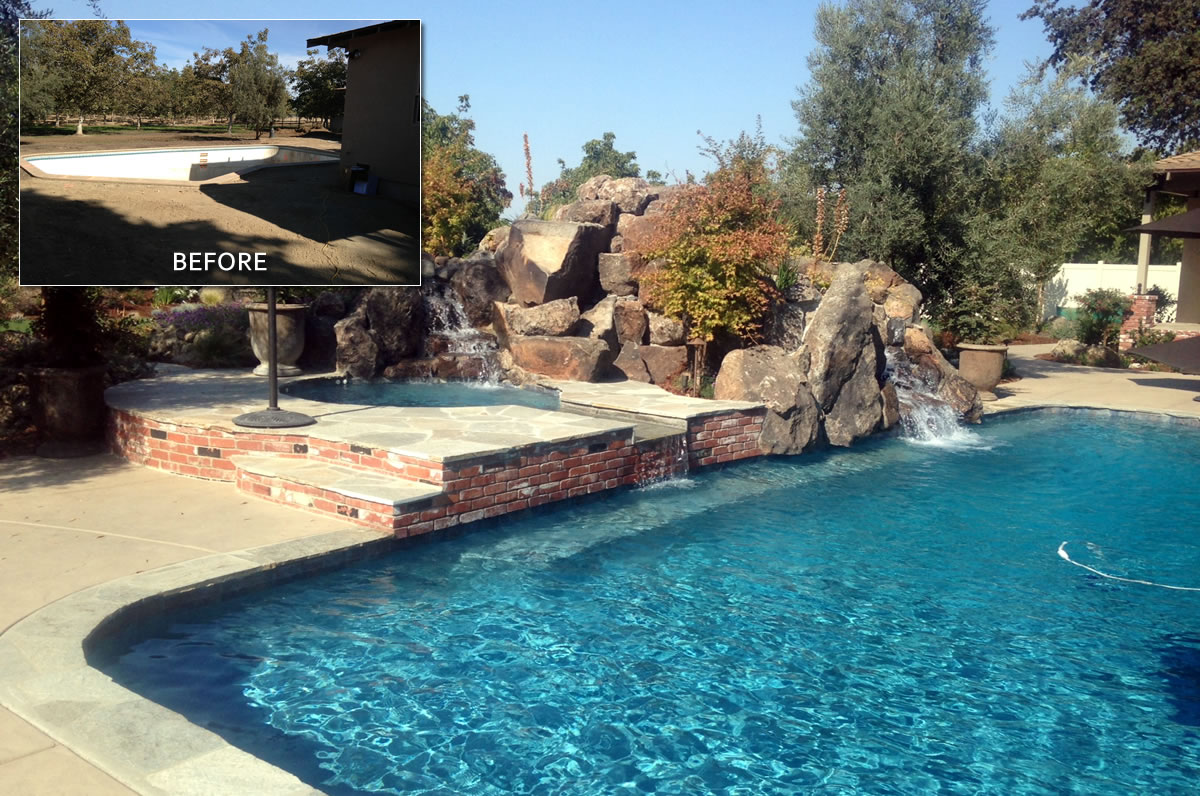 Remodeling Pools Before And After : Hanford pool remodel before after paradise pools