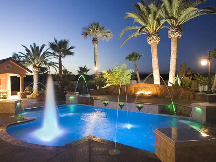 Swimming Pool Landscape Lighting Paradise Pools California Pool Designer Visalia Pool