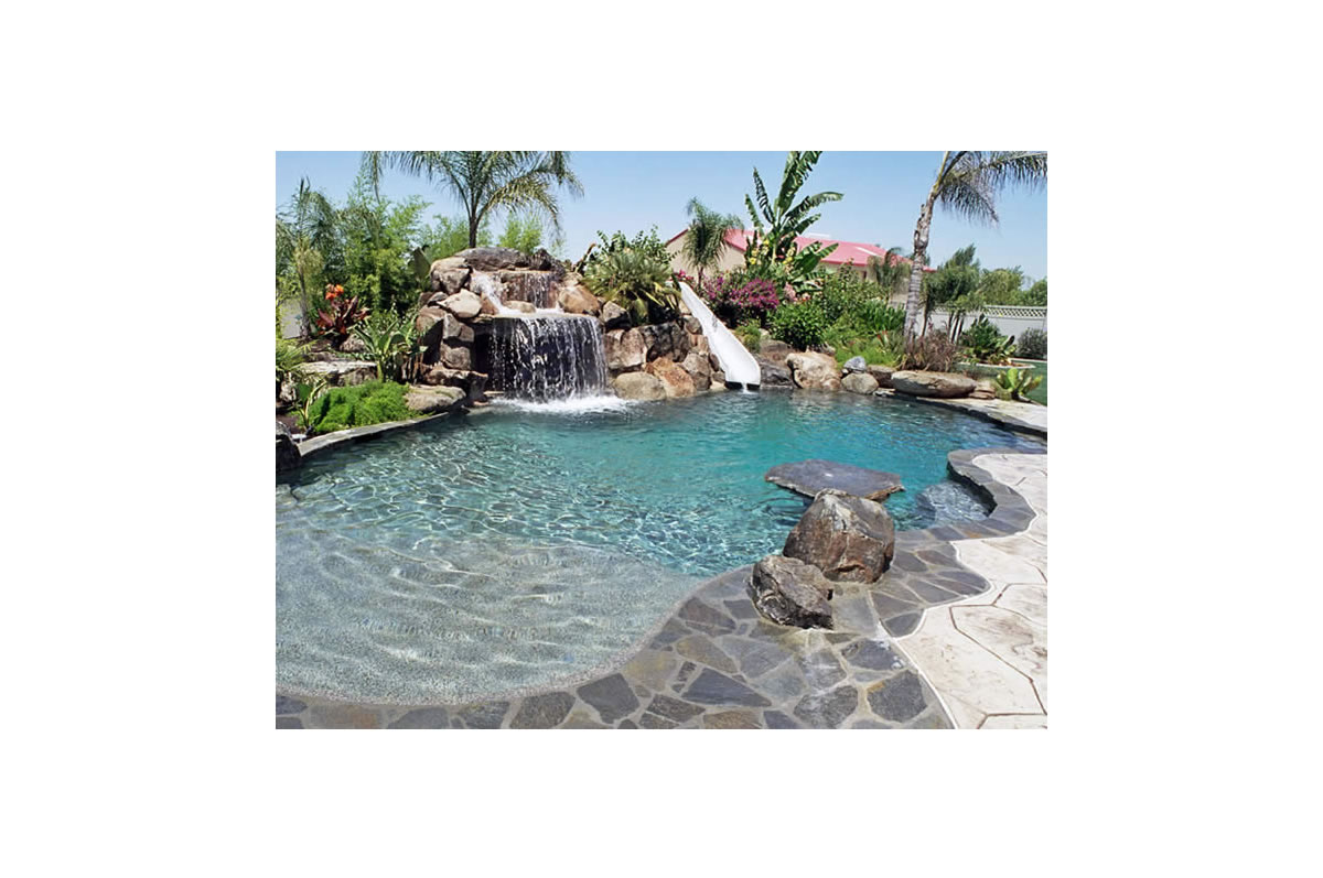 sports pool and water slides backyard pools paradise pools