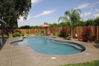 Visalia Pool Builders Swimming Pool With Water Features Paradise Pools California Pool